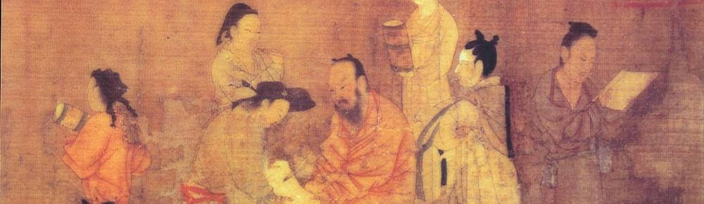 Maestro clásico chino con sus discipulos