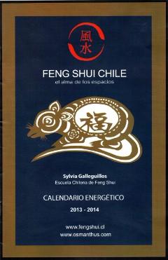 Calendario Energetico 2013 - 2014 de Feng Shui Chile y Sylvia Galleguillos