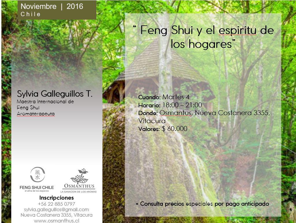 Feng Shui y Espiritu de los Hogares, charla taller de Sylvia Galleguillos